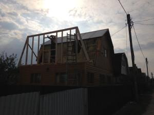 Дом в процессе реконструкции